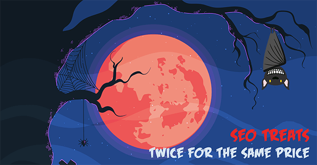 Halloween special offer from WebCEO: use our SEO tools twice as long for the same price!