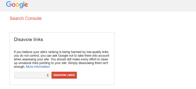 How to disavow links in Google Search Console