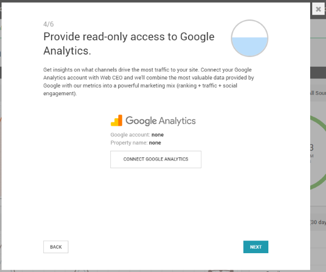 Connect your project to Google Analytics to assist you in WordPress SEO.