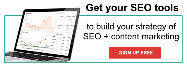 Sign up and get the SEO tools for your content marketing campaign!
