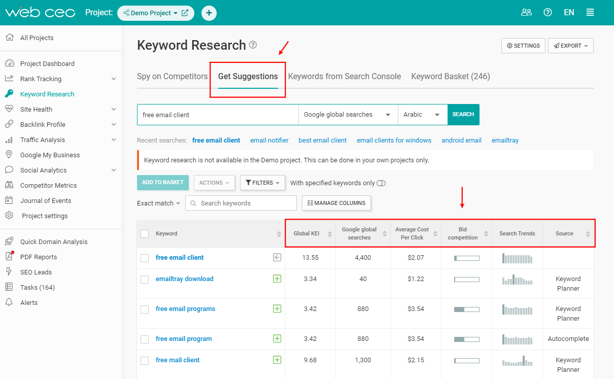 the-webceo-keyword-research-tool