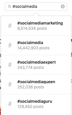 Instagram SMO relies in hashtags, too.