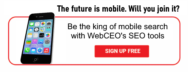 Sign up and optimize your site for mobile search!