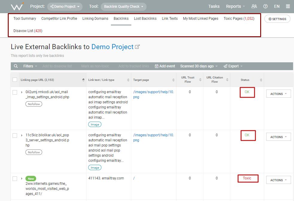 webceo-backlink-quality-check