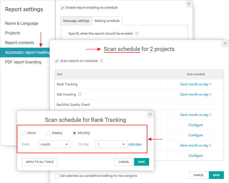 WebCEO screenshot SEO workflow automation