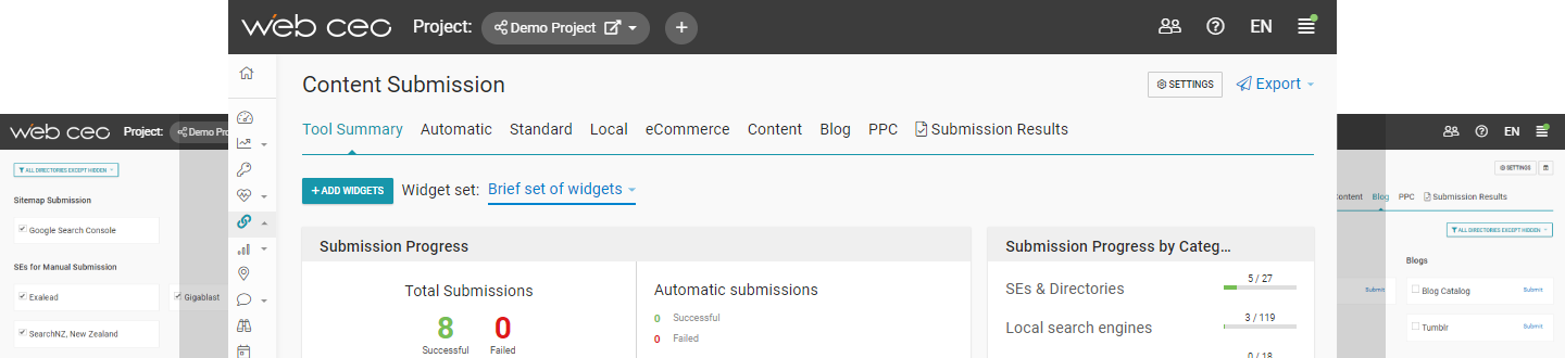 WebCEO Submission Tool