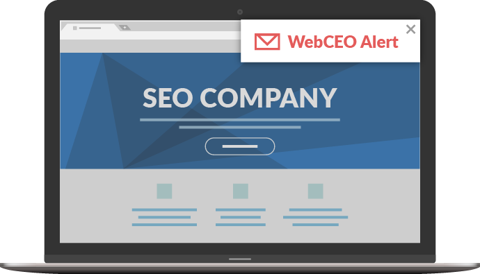 WebCEO Email Alerts